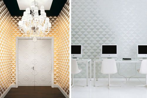 Insane. This is tile not wallpaper. by Bisazza via www.design-milk.com