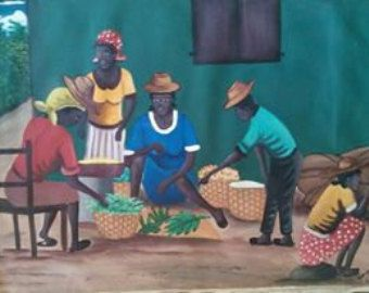 Pintura haitiana / arte popular de Haití por HaitiSustained en Etsy