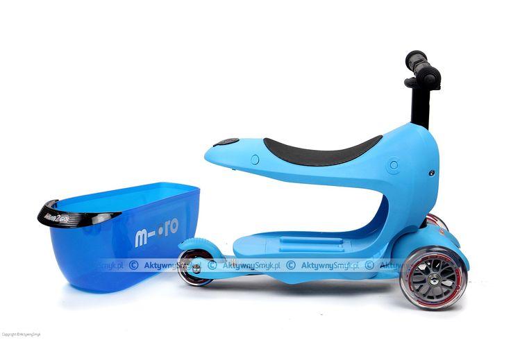 Micro Mini2Go, w kolorze niebieskim, to jeździk i hulajnoga Mini Micro w jednym :-). Micro Mini2Go - dwa pojazdy... jeździk z bagażnikiem i hulajnoga Mini Micro z regulowaną wysokością drążka. http://www.aktywnysmyk.pl/micro-mini2go-jezdzik-i-hulajnoga/1454-micro-mini2go-blue-jezdzik-i-hulajnoga.html