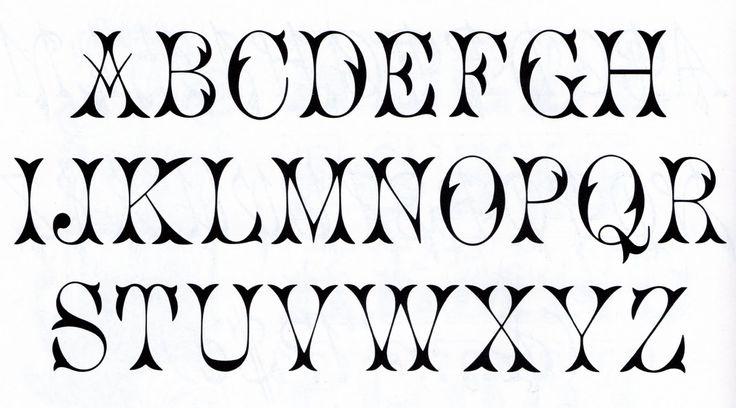 Printable Fancy Alphabet Letters | Vintage Free Font- Alphabet