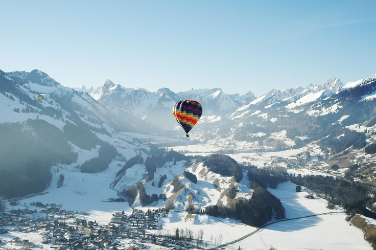 11 amazing places to go hot air ballooning #escapesnaps Location: Château-d'Oex, Switzerland