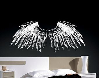 Rustle of Angel wings Quote Vinyl Wall by uniquevinyldesigns4u