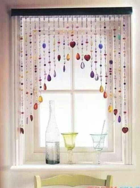 Beaded window treatment | For the Home | Pinterest