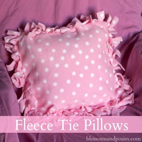 Great idea for a homemade gift - fleece tie pillow!