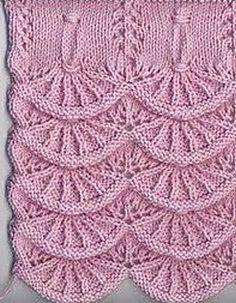 Knitting pattern wave