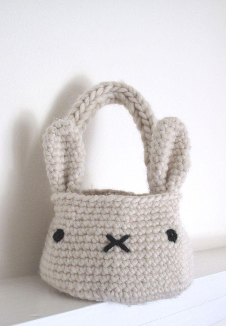 bunny basket bag crochet pattern