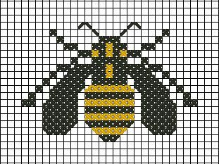 Bee cross stitch. Abella de punt de creu