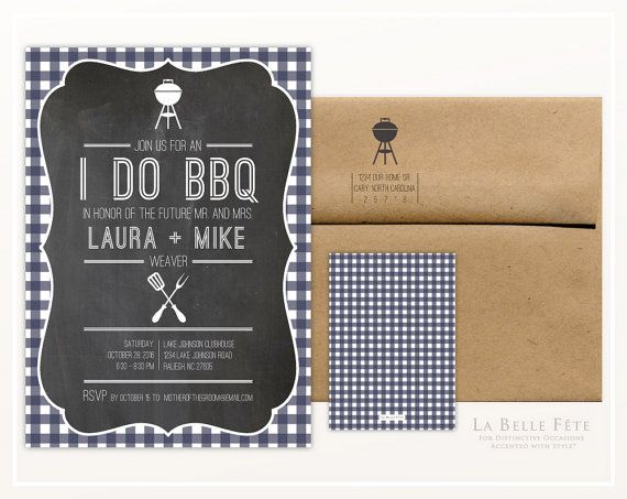 I DO BBQ Barbecue Rehearsal Dinner / Couples Shower by LaBelleFete