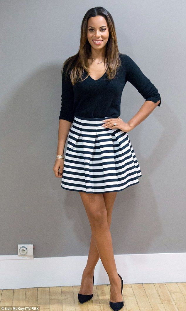 Style statement: Rochelle showed off her legs in the short number and looked stunning