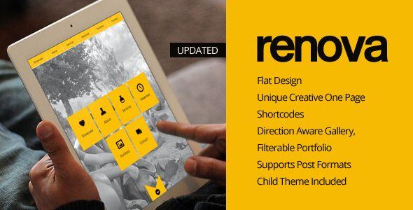 RENOVA - WordPress One Page Responsive Portfolio  - Portfolio Creative
