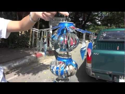 DIY: Wind Spinner ~ what can you do with four Pepsi Cans? ~ a short YouTube video...great idea!