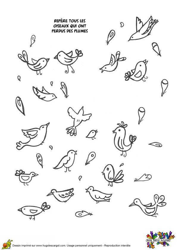Coloriage jeux oiseaux sur Hugolescargot.com - Hugolescargot.com