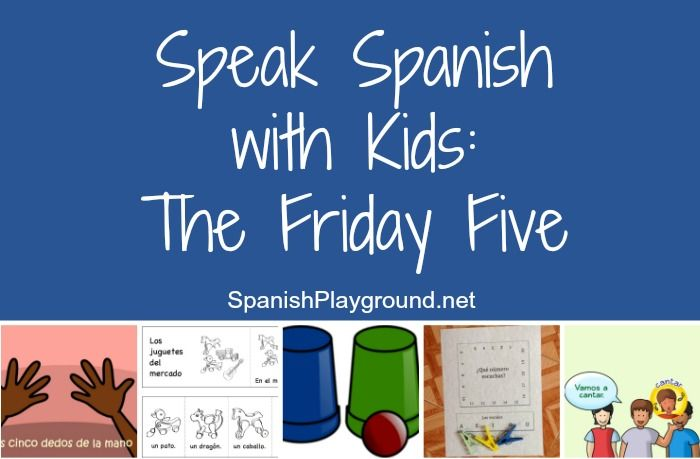 Speak Spanish with kids using these five low-prep activities. Videos, songs, and printable activities, these ideas can be used with a wide range of levels.