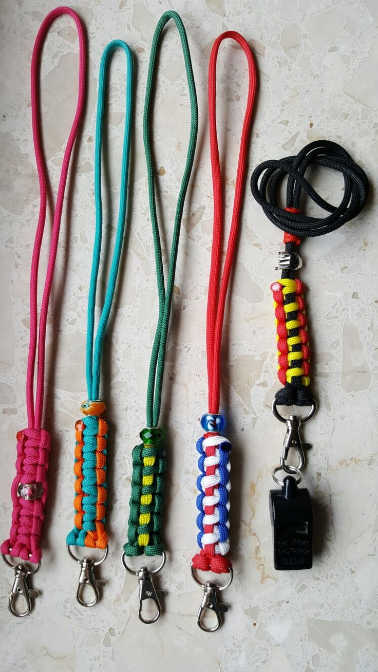 Paracord Lanyard with 1,2 or 3 colors