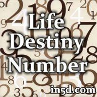 A number derived from all of the letters in your FULL BIRTH NAME make up what is called the Expression or Destiny number.