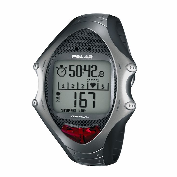 Polar RS400. ZonePointer - Makes it easy to stay in your target zone. A visible and moving symbol on th. ZoneLock - Simply the easiest way to set a target zone. You can activate a target zone wit. Event Countdown Timer - Set your goal and stay motivated. Keeps your motivation high by sh. Interval trainer (HR, pace, distance) guided workouts - Create your personal multizone wor. Polar Fitness Test with OwnIndex - Measures your fitness level in 5 minutes. A fitness tes.