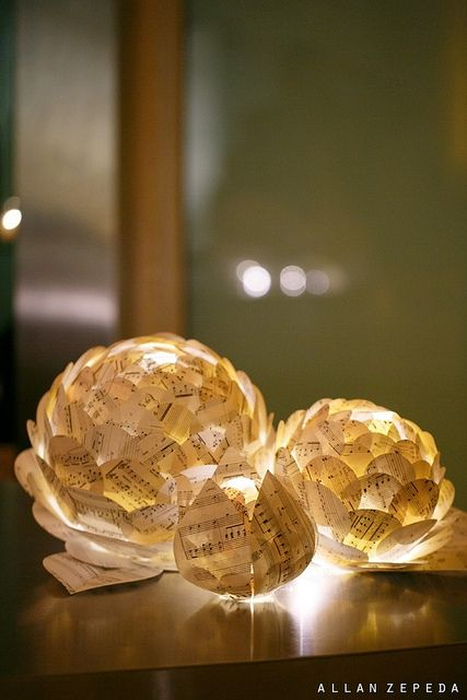 Artichoke Lantern Centerpieces by all things paper, via Flickr