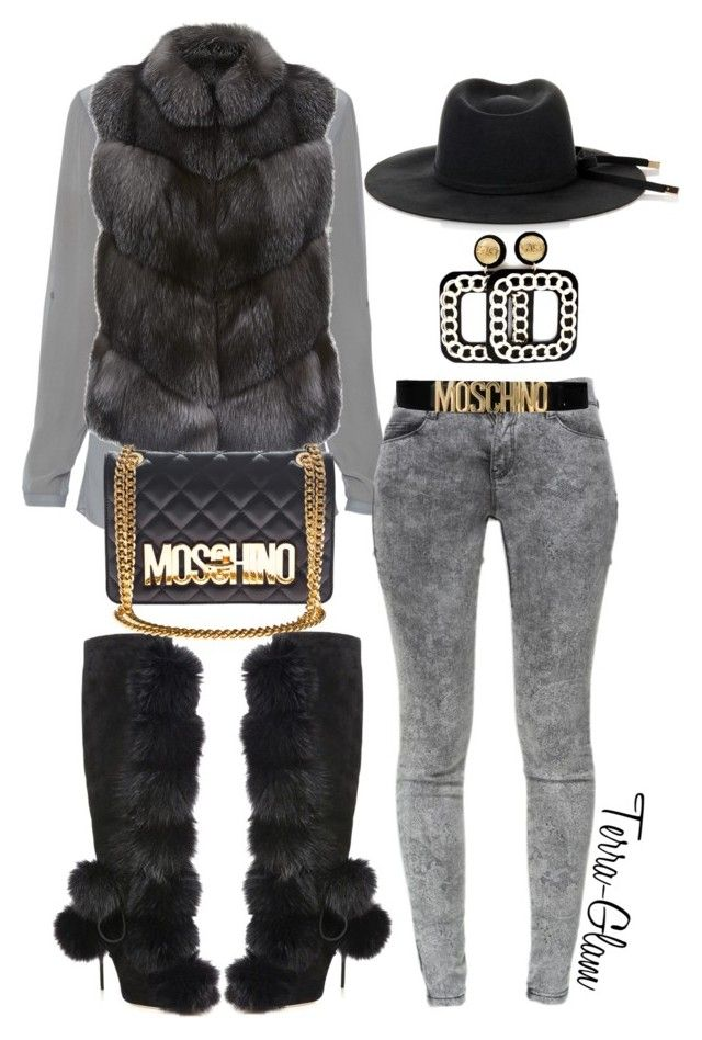 """Fur For The Burr!"" by terra-glam ❤ liked on Polyvore featuring Jimmy Choo, Elie Tahari, Harrods, Zara, Moschino, Gucci, women's clothing, women, female and woman"