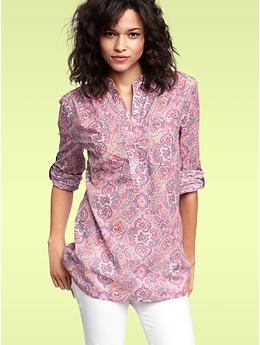 I'm loving tunics these season...and the paisley here? To die for. Mood Fabrics would likely have something like this in stock.: Paisley Henley, Dream, Color, Belt, Gap Paisley, Loving Tunics, Gap Tunic