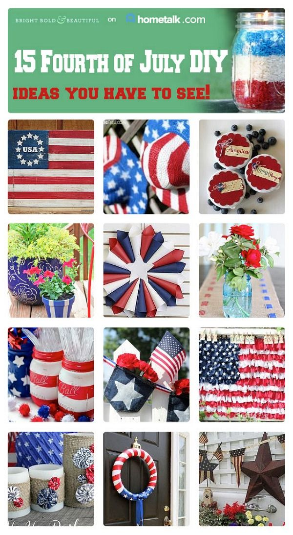 15 Fourth of July DIY Ideas - Bright Bold and Beautiful