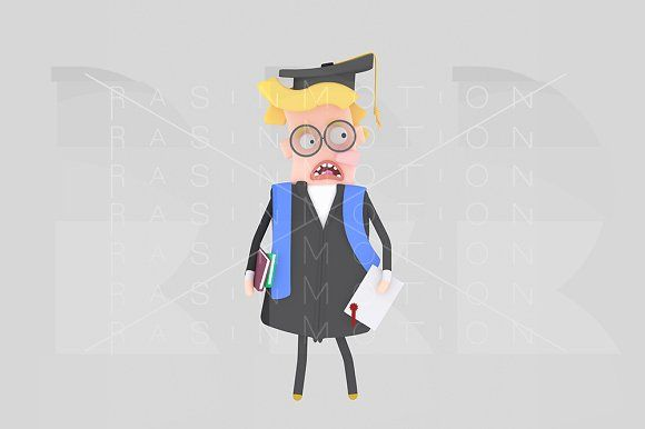 Worried  Graduate blonde boy @creativework247