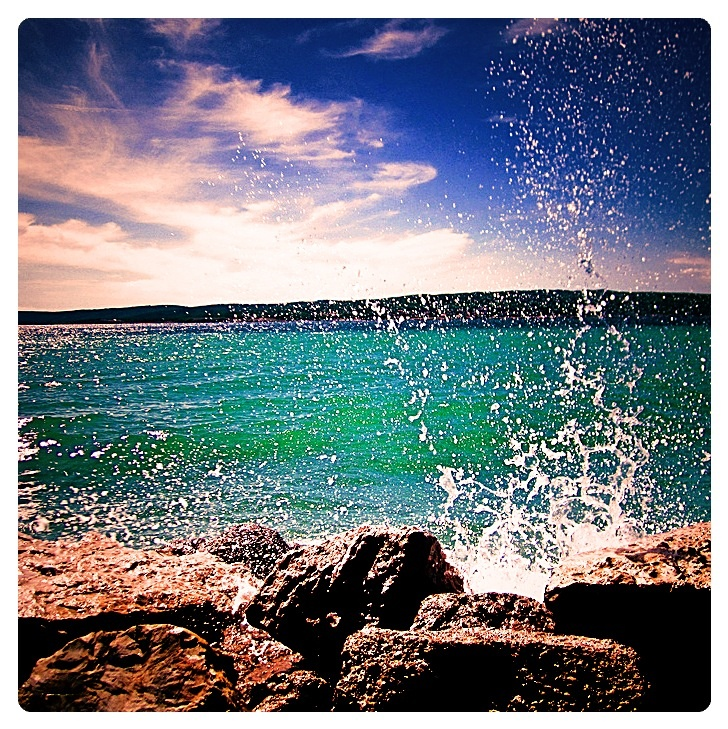 Crikvenica Croatia 2011  Summer & beach - what else do you need??  #croatia #hrvatska #water #sea #beach #rock