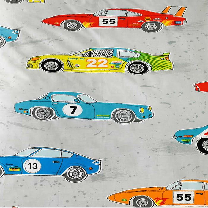 Race Car Hiccups Pure Cotton Single Bedding Car Themed