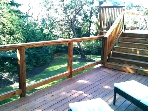 Best Glass Panel Deck Railing Pretty Panels For Home 640 x 480