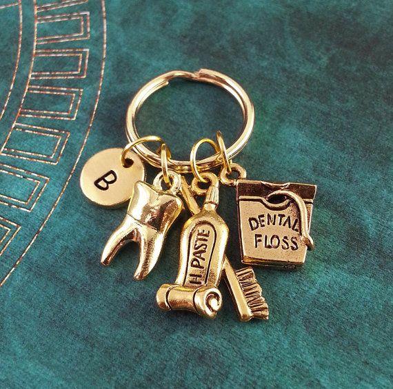 Dental Hygiene Keychain Personalized Necklace by MetalSpeakToo
