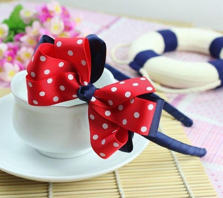 Hair Headband Bow Bowknot Ribbon Head Cute Girl Sweet Band Lady Flower Clip New