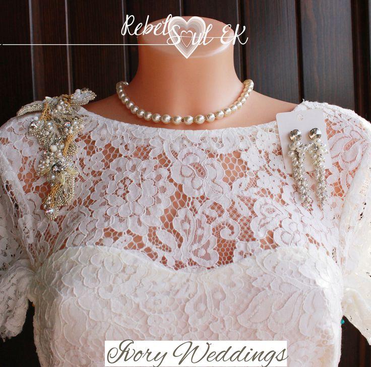Ivory weddings jewelry set