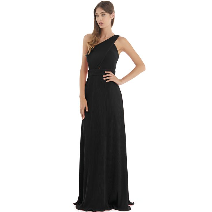 Langhem Dior Black Evening Gown