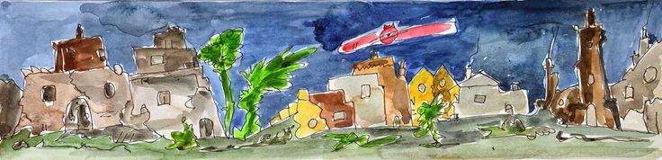 L'arte di Vittorio Amadio: Once Upon A Time. C'era una volta ... volasse sopra le case del regno senza Re per distruggerle insieme ai suoi abitanti...