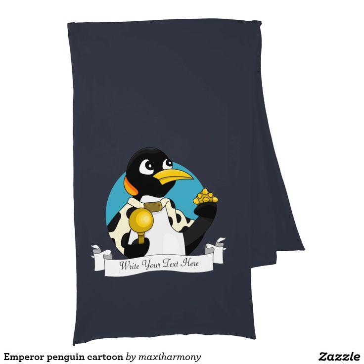 Emperor penguin cartoon scarves