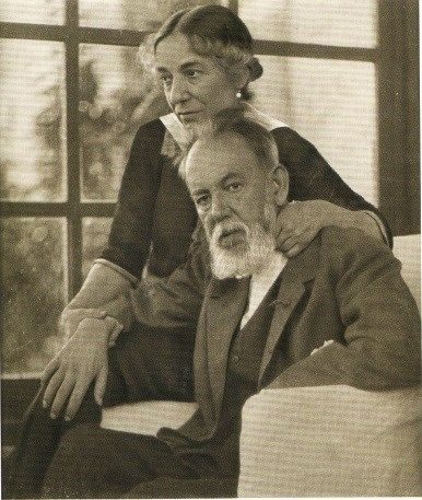 Joaquín Sorolla y Bastidaand with his wife Clotilde García del Castillo