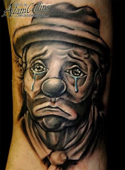 Image detail for -Dave Egypt the cab's sad clown tattoo. Cheer up Dave!! in TATTOOS by