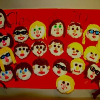 Classmate cupcakes. Idea from Hello Cupcake cookbook.