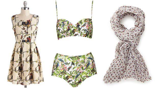 9 Ways To Wear Bird Print: http://www.stylelist.ca/2014/04/09/spring-trends-2014-9-ways-to-put-a-bird-on-it/#!slide=2525501