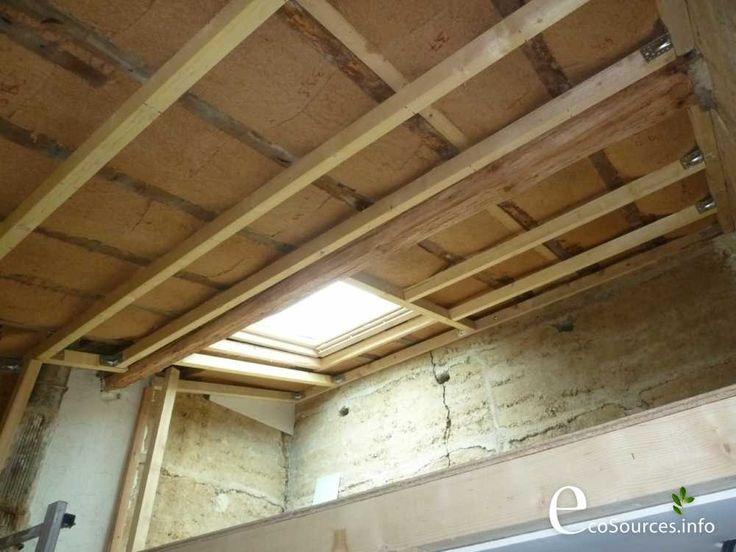 Isolation toit : Préparation des suspentes pour la pose du placo