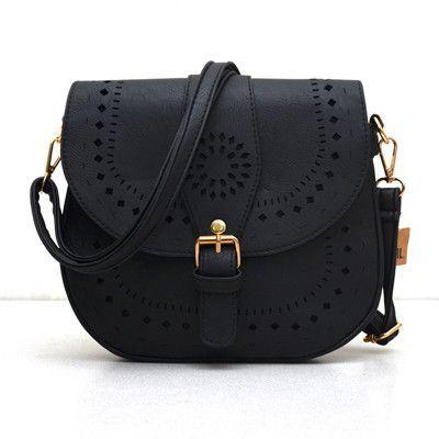 Bohemain Handtoolled Vegan Leather Saddle Bag - Sassy Posh - 3