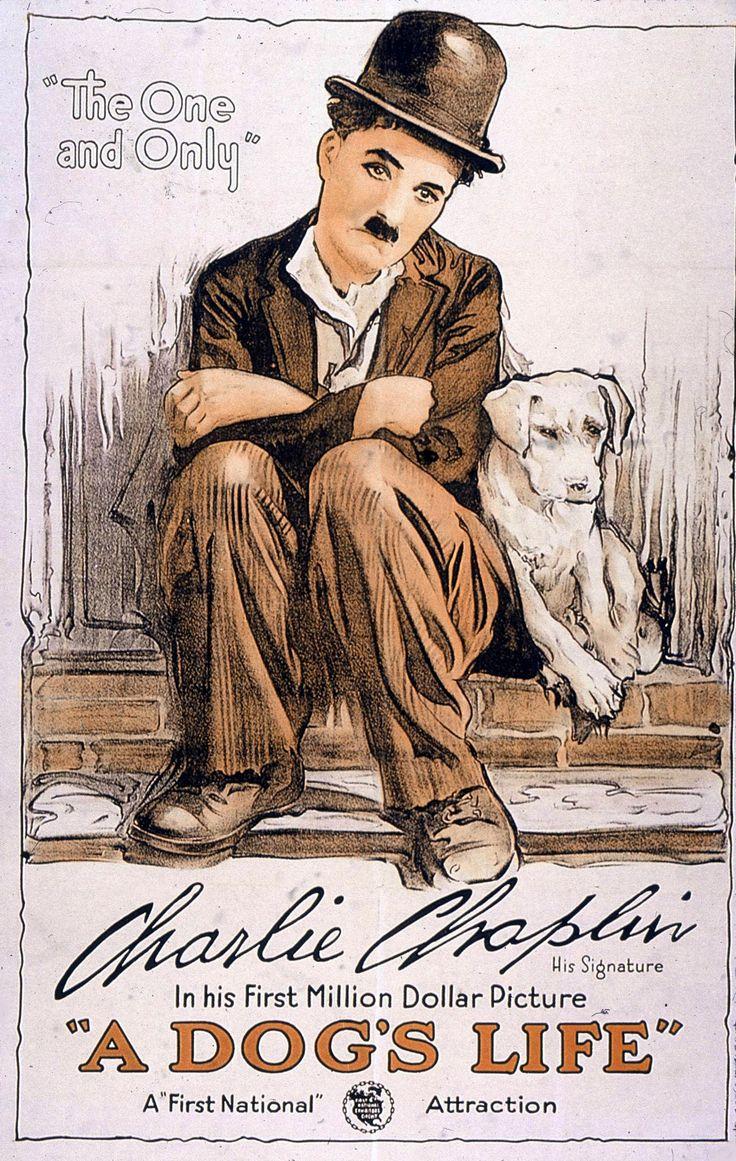 A Dog's Life (1918) - Charlie Chaplin, Edna Purviance - silent film poster