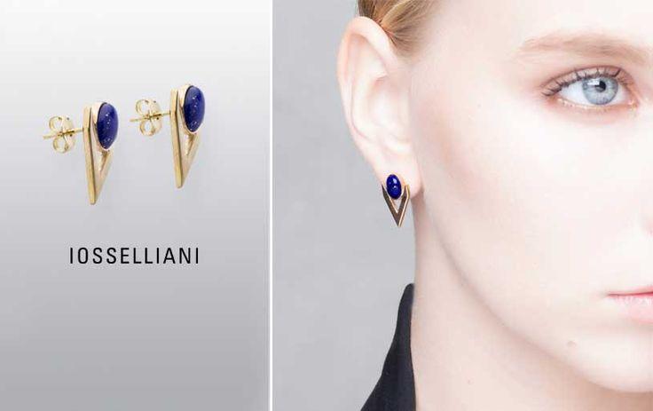 GOLD V EARRINGS #iosselliani