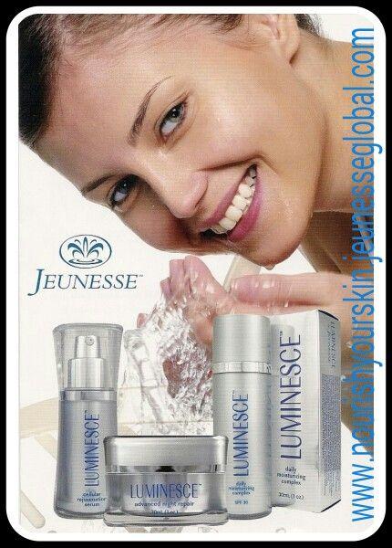 Luminesce Skin Care Range.  Let it nourish & renew your skin for a beautiful youthful glow. www.nourishyourskin.jeunesseglobal.com