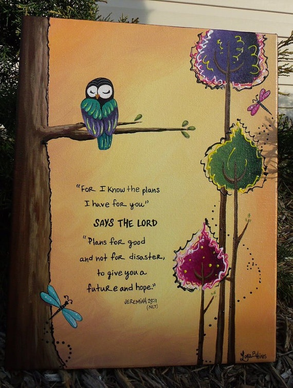 Jeremiah 2911 Hand Painted Scripture Canvas by WBFDesigns on Etsy, $39.95