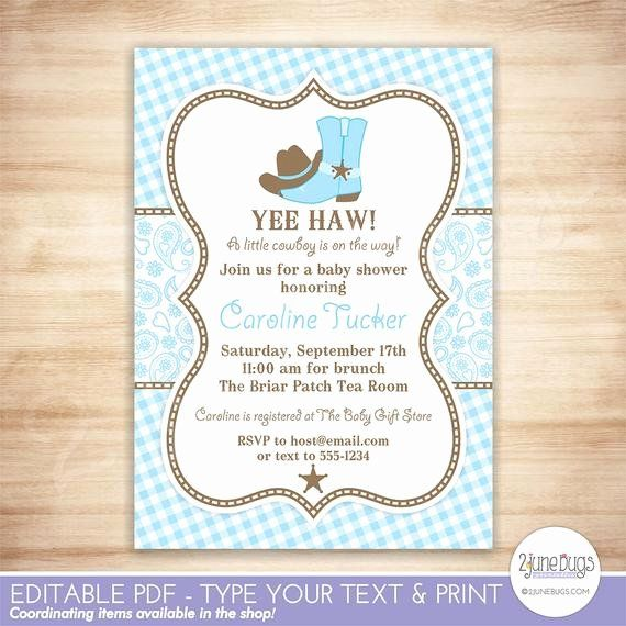 Western Baby Shower Invitation Template New Cowboy Baby Shower Invitation Cou Cowgirl Baby Shower Invitations Cowboy Baby Shower Invitations Cowboy Baby Shower