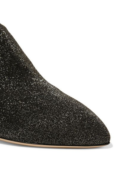 Charlotte Olympia - Less Is More Metallic Jersey Over-the-knee Boots - Black - IT39.5