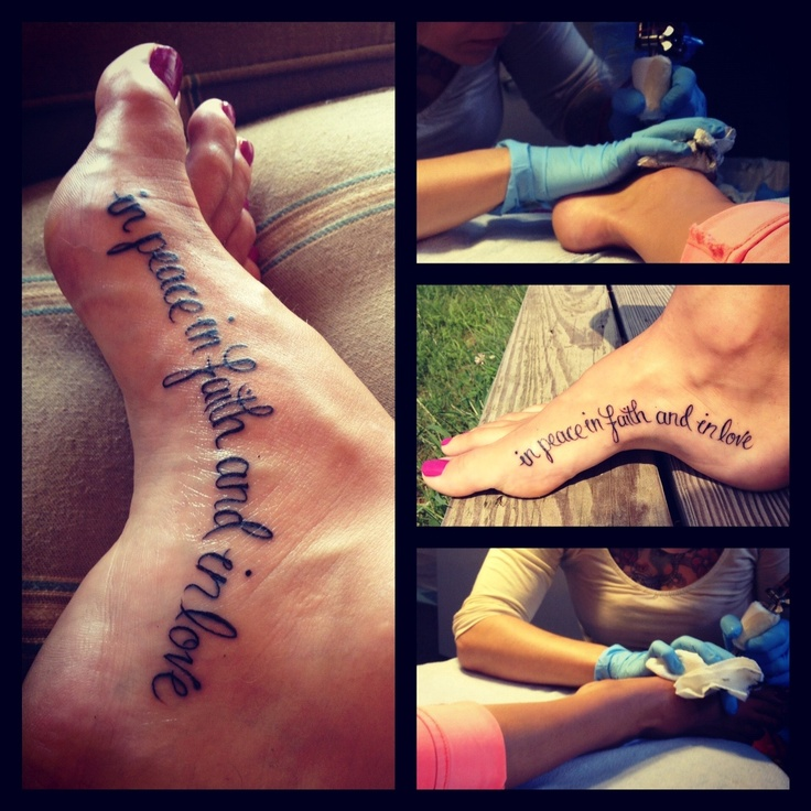 Love the Placement of this tattoo - also like the wording, but I'm thinking of something a little different than that. #foot #arch