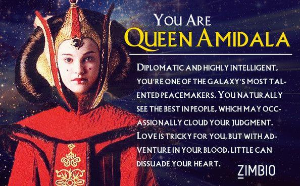 Super fun star wars quiz!! I got queen amidala!! Padme is my favorite!!!!