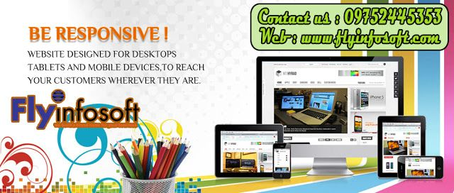 Fly Infosoft Website Design And Software Development Services Company In Bhopal Responsiv Responsive Website Design Website Design Software Website Design