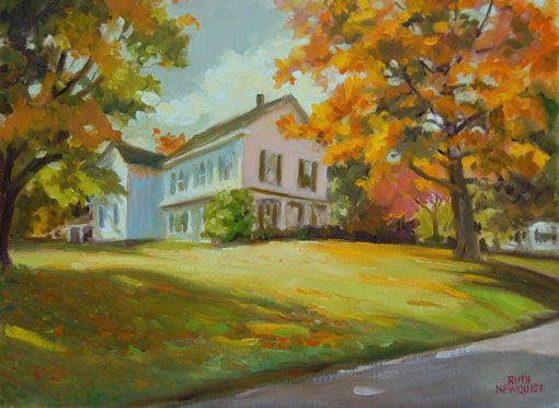 Pin by laura bodstein johnson on art pinterest for Oil paintings of houses